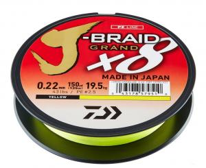 Plecionka Daiwa J-Braid GRAND X8 0,16 mm/135m ŻÓŁTY