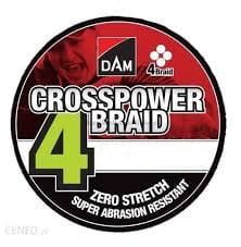 DAM CROSSPOWER 4-BRAID 0,10MM/4,6KG/150M-GREE