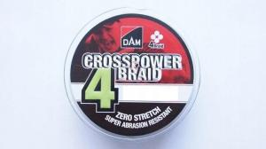 DAM CROSSPOWER 4-BRAID 0,13MM/6,8KG/150M-GREE