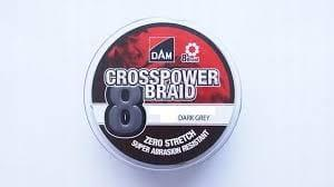 DAM CROSSPOWER 8-BRAID 0,22MM/13,KG/300M-DARK GREN